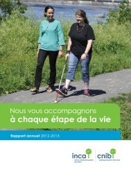 INCA Rapport annuel 2012-2013 - CNIB