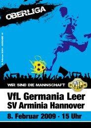 Hier könnt Ihr das Stadionmagazin (pdf-Datei) - VfL Germania Leer