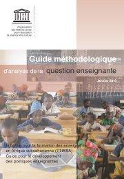 Guide méthodologique d'analyse de la question enseignante; 2010