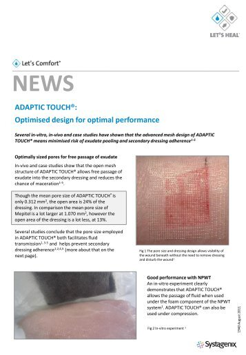 ADAPTIC TOUCH®: Optimised design for optimal ... - Systagenix