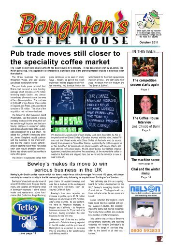Pub trade moves still closer to the speciality coffee market