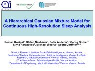 A hierarchical Gaussian mixture model for continuous high ...