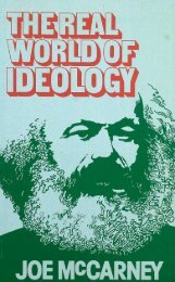 The Real World of Ideology JOE McCARNEY
