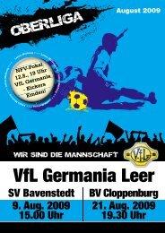 Hier das VfL-Magazin zum Spiel herunterladen! - VfL Germania Leer