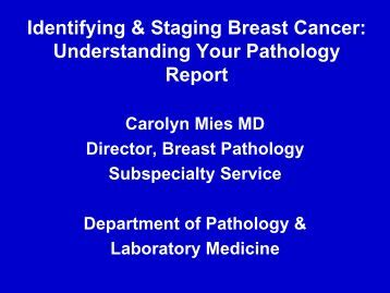 Sorry, that Pathologists staging in breast cancer