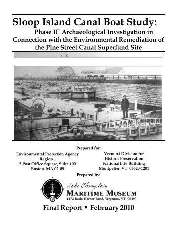 Sloop Island Canal Boat Study: - Lake Champlain Maritime Museum