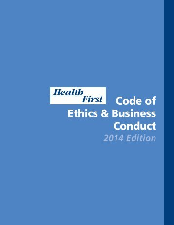 Health First Code of Ethics & Business Conduct
