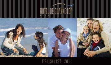 PRIJSLIJST 2011 - De Blanke Top
