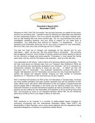 President's Report 2013 - Helicopter Association of Canada