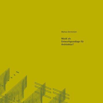 Musik als Entwurfsgrundlage für Architektur | PDF - gro