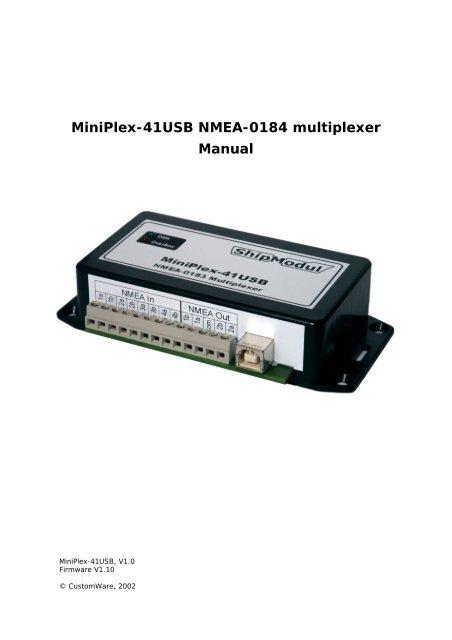MINIPLEX-41 USB DRIVERS DOWNLOAD