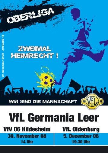 VfL-Magazin (Nr. 15) zum Spiel als pdf - VfL Germania Leer