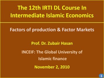 The 12th IRTI DL Course In Intermediate Islamic Economics
