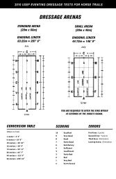 2010 USEF Eventing Dressage Tests - United States Eventing ...