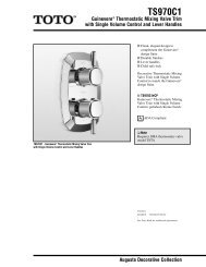 Specification and Measurements for Toto Guinevere Thermostatic ...