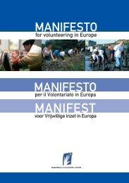 Manifesto per il volontariato in Europa - Cesvot