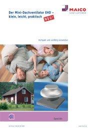 Der Mini-Dachventilator EHD – klein, leicht, praktisch - Maico