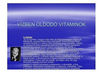 Vízben oldódó vitaminok (Salamon Patrik 11.C-08)