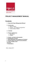 PROJECT MANAGEMENT MANUAL Contents - Fokus