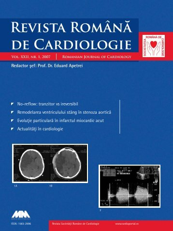 Nr. 1, 2007 - Romanian Journal of Cardiology