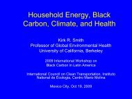 Household Energy, Black Carbon, Climate, and Health