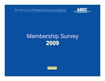 2009 Survey Results - ABIC