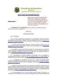 Institui o novo Código Florestal - Associação Brasileira de ...