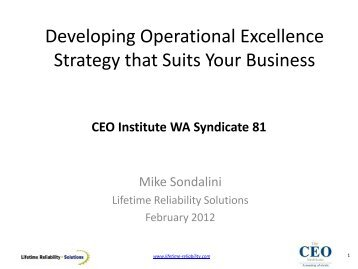 Develop Operational Excellence Strategy That Improves Your ...