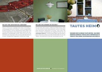 Image-Flyer - Deutsche Version - Tautes Heim
