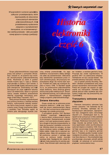 Historia elektroniki, cz. 6 - Elportal