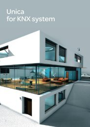 Unica for KNX system