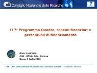 Schemi di finanziamento - CNR - Ufficio Attivita e Relazioni con ...