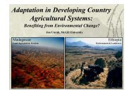 Adaptation in Developing Country Agricultural Systems: - Global ...