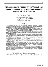 türk cumhuriyetlerinden gelen öğrencilerin türkiye cumhuriyeti ... - Bilig