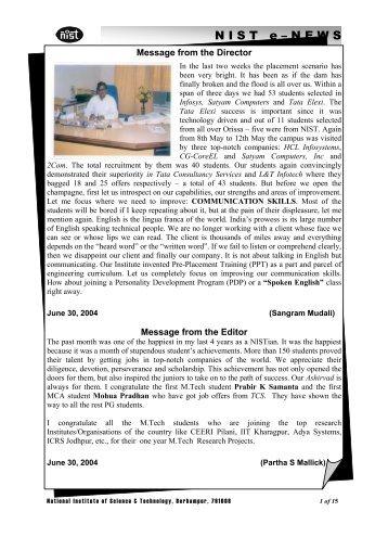 NIST e-NEWS(Vol 24, May 15, 2004)