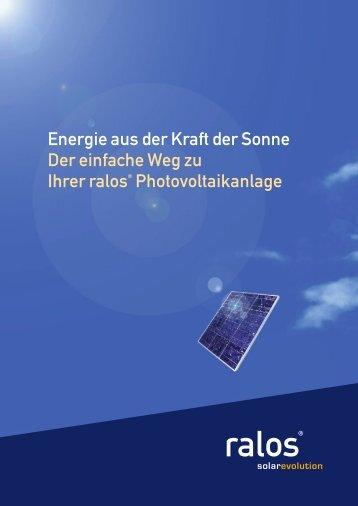 Energie aus der Kraft der Sonne Der einfache Weg zu Ihrer ralos ...