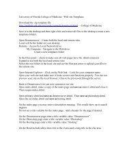 University of Florida Web site Templates - Academic Health Center ...
