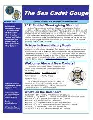 The Sea Cadet Gouge - Phoenix Division