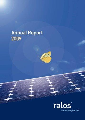 Annual Report 2009 - Ralos GmbH