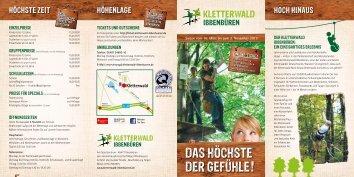 """Flyer """"Kletterwald in Ibbenbüren"""""""