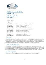 VOTable Format Definition Version 1.05 - IVOA
