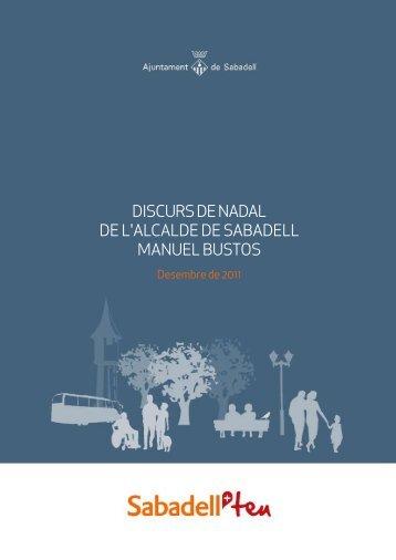 discurs de nadal de l'alcalde de sabadell manuel bustos