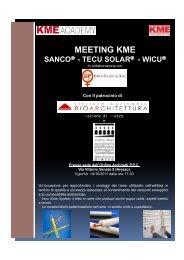 Informativa Meeting KME 14.10.2011 - Ordine Architetti Arezzo