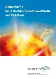 A3 AKROMID T Produktprogramm (deutsch) - AKRO-PLASTIC GmbH