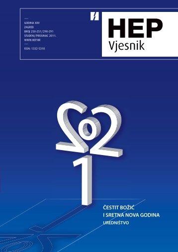 Broj 250/251 studeni/prosinac 2011. - HEP Grupa