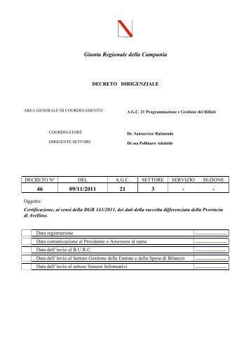 scarica allegato - Osservatorio Provinciale dei Rifiuti - Avellino