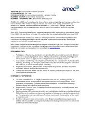 JOB TITLE: Environmental Assessment Specialist POSITION ... - NEIA