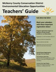 Teachers' Guide - McHenry County Conservation District