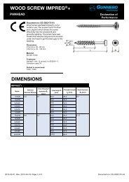 CE-2002172-A1 Wood screw panhead Impreg+ - Gunnebo Industries