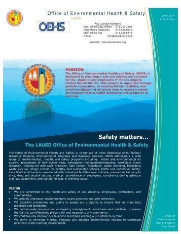 2013-14 OEHS Fact Sheet